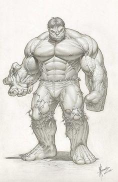The Incredible Hulk pencil drawing: Dale Keown, Marvel Comic, Incredible Hulk, Comic
