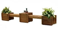 Image result for garden container bench