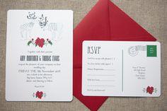 Wintry Reindeer Wedding Stationery - Wedding in a Teacup