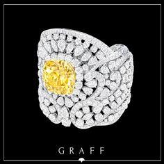 An exceptionally rare 76.31ct Natural Fancy Yellow Cushion cut  Multi Shape Diamond Cuff.