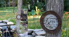 Ever since we started working on the big backyard makeover, I've been searching all over for cool-looking garden decor for a reasonable price. I can hear you sa… Diy Garden Decor, Garden Art, Diy Home Decor, Decor Crafts, Tree Garden, Garden Crafts, Garden Decorations, Diy Decoration, Cool Diy