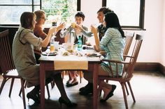Try arranging a group dinner before you get drinks; it's a good way to catch up with the girls you haven't seen in a while.