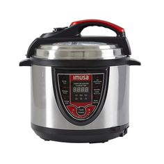 IMUSA pressure cookers are perfect for your busy lifestyle. Pressure cookers speed up cooking time by retain more minerals and vitamins, reduce energy and heat while cooking and are easy to clean up. the unit traps steam inside, which builds up Digital Pressure Cooker, Best Electric Pressure Cooker, Pressure Cooker Xl, Electric Cooker, Cooking Appliances, Small Appliances, Kitchen Time, Kitchen Dining, Hot Butter