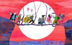 L'opéra volant, 2014, видавець Rue du Monde, текст Carl Norac, ілюстрації Vanessa Hié
