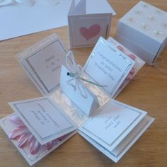 Wedding Exploding Box card with Dragonfly and Gerbera