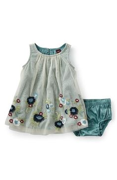 Tea Collection 'Romantica Roma' Sleeveless Tulle Dress (Baby Girls) available at #Nordstrom
