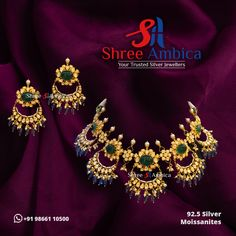 Find the most perfect example of beauty painstakingly embellished with Polkis, 92.5 silver, and Moissanites to explore the glamourous diva in you from Shree Ambica - Your Trusted Jewellers. Pick this for the upcoming festive/wedding season. Readily available in stock For Price and Details Message on - +919866110500 #ShreeAmbica #TrustedJewellers #SilverJewellery #polkijewellery #kundanjewellery #emeraldjewelry #uncutdiamondjewellery #indianbride #indianwedding Emerald Jewelry, Silver Jewellery, Wedding Season, Festive, Diva, Glamour, Jewels, Explore, Detail