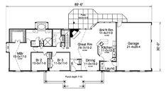 Farmhouse 3 Beds 2 Baths 1814 Sq/Ft Plan #57-373 Main Floor Plan - Houseplans.com