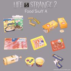 Guilty Gucci - mimoto-sims: Life is Strange 2 Food Set A. Sims 4 Mm Cc, Sims Four, Sims 1, Sims 4 Mods Clothes, Sims 4 Clothing, Sims 4 Stories, Maxis, Sims 4 Piercings, Sims 4 Family
