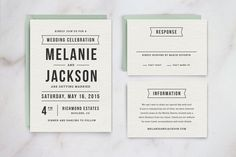 Wedding Invitation Template Suite by Hitch Paper Co. on Creative Market