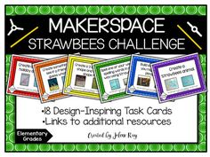 If you use Strawbees in your Makerspace lab, then you will love these task cards! They will get your students' creative juices flowing and allow them to express themselves through design. Also included is a Strawbees tutorial and resource page with links to