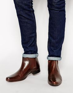 Image 1 of ASOS Chelsea Boots in Leather