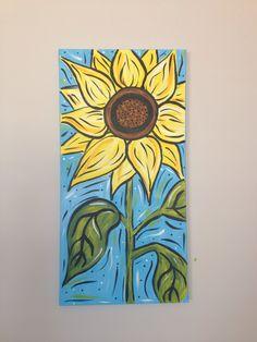 12x24 Sunflower- Jessica Byrd Zentangle, Art Nouveau, Art Gallery, Sunflower Art, Spring Painting, Autumn Art, Art Party, Lettering, Clay Art
