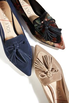 Pointy loafers with tassel bows | Sole Society Hadlee