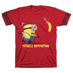 Fitness Minion Tee Shirts, Boy's