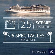 Le #divertissement est essentiel peu importe le moment et l'endroit...Même en #mer! Qu'en pensez-vous? #MedWayOfLife