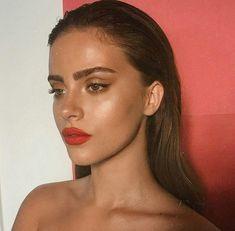 Red Lip Makeup, Glowy Makeup, Natural Makeup, Face Makeup, Red Dress Makeup, Makeup Light, Glowy Skin, Makeup Lipstick, Formal Makeup