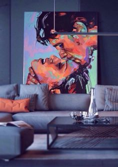 Portrait Art, Abstract Portrait, Modern Art Paintings, Figurative Art, Love Art, Painting Inspiration, New Art, Art Projects, Art Drawings