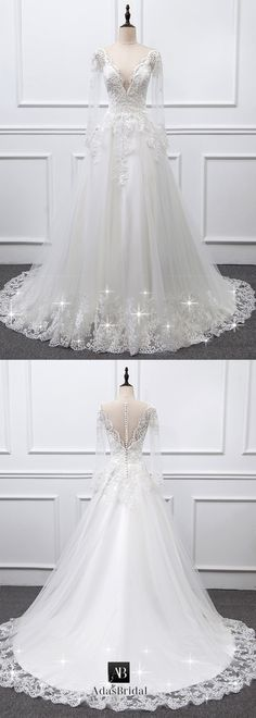 Graceful Tulle Sheer Jewel Neckline A-line Wedding Dress With Lace Appliques