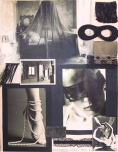 Lingerie design, concept board presentation. Paris, 1998.
