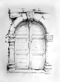 An old door in the Venetian-era port town of Rethymno on Crete. 1993. <carnegie@mweb.co.za> Old Buildings, Crete, Venetian, Illustrations, Doors, Architecture, Antiques, Arquitetura, Antiquities