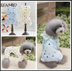 BENMEI Newest Pet Cartoon Printed Fleece Pajamas Small Dog Cat Jumpsuit Coat Shirt Clothes For Teddy Small Dogs #Affiliate