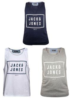 Jack & Jones Mens Designer Branded Fresh Tank Vest  S, M, L, XL, XXL