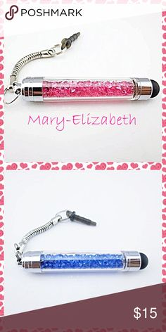 Dust plug stylus. Jeweled dual dust plug and stylus for Androids and iPhones. Accessories Phone Cases
