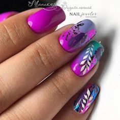 Make an original manicure for Valentine's Day - My Nails Fancy Nails, Cute Nails, Pretty Nails, Perfect Nails, Gorgeous Nails, Nagel Gel, Foil Nails, Nail Treatment, Purple Nails