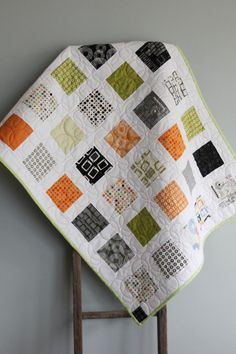 Moda Reel Time by Zen Chic Charm Back Baby Quilt - made to order!