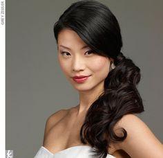 Asian hair side down