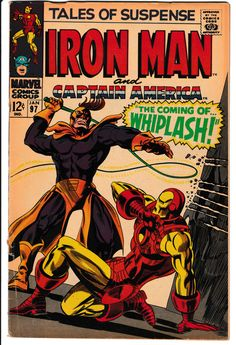 Tales of Suspense 97 Key Silver Age Marvel Iron Man Captain America 1st Whiplash