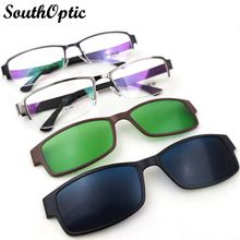208e9a6595 Top Quality Titanium Alloy Myopia Presbyopia Optical Frame With clip-on  sets clip on sunglasses