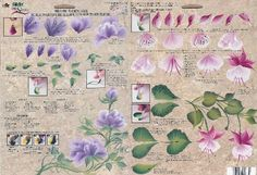 Orchid Nail: Feuilles d'entrainement one stroke