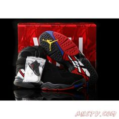 innovative design 9af5e 6acce New Air Jordan 8 Retro Playoffs Black Varsity Red White For Sale