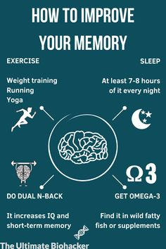 Implement these tips on improving memory and get mentally fit! #memory #brain #lifehacks #brainhealth #improvingmemory #memoryimprovement #mentalhealth #healthtips