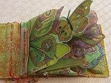 Mariposas Book Butterfly Burst pages Fabric Journals, Art Journals, Fabric Art, Fabric Books, Textiles, Ap Studio Art, Altered Book Art, Watercolor Journal, Mixed Media Journal