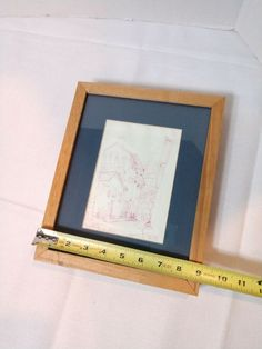 Details about Original Art Framed Pen & Ink Drawing, Signed, Dated