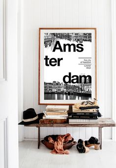 Amsterdam Print City Poster Typography Art by BitterMoonStudio