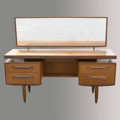 60s but works with deco and higher wood with is nice for the bedroom colour scheme