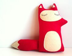 Liam - The Sleepy Woodland Fox - Made to order.  sleepyking  modern designer plush toys & accessories