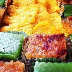 ขนมไทย ไข่ไก่ ใบเตย กะทิอร่อยดี น้ำตาลมะพร้าว