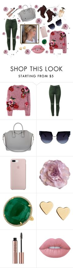 Cute flower outfit by pinkg555 on Polyvore featuring Dolce&Gabbana, Givenchy, Cynthia Rowley, Lipsy, Lime Crime, Prada and STELLA McCARTNEY