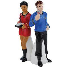 BLOG DOS BRINQUEDOS: Uhura and Dr. McCoy Salt and Pepper Shakers