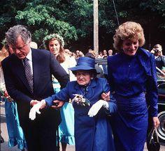 Senator Edward Kennedy, Rose Fitzgerald Kennedy and Eunice Kennedy.