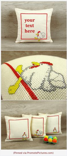 Easter throw pillow cover, personalized pillow, customized cushion cover, cute chicks cross stitch 12 x 12 (31 x 31 cm) - Easter sign gift https://www.etsy.com/listing/586379567/easter-throw-pillow-cover-personalized?ref=shop_home_active_21  (Pinned using https://PromotePictures.com)