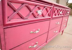 Painting furniture with spray paint, tips and tricks. And how to add character with water-based glaze.