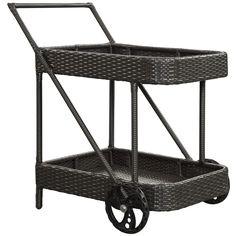 Modway Furniture Replenish Outdoor Patio Beverage Cart #design #homedesign #modern #modernfurniture #design4u #interiordesign #interiordesigner #furniture #furnituredesign #minimalism #minimal #minimalfurniture