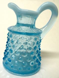 Vintage Fenton Blue Opalescent Hobnail Glass by UncommonRecycables, $20.00