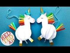 Easy 3D Paper Unicorn Decoration - Red Ted Art's Blog